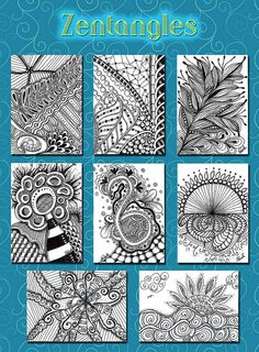 Zentangle ATCs by flowerlily1, via Flickr