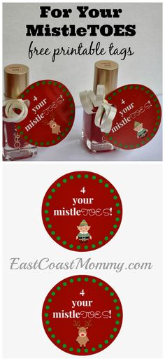 This is an adorable... and inexpensive little gift! It would be fun for a Secret Santa gift... or you could add a pair of socks or a pedicure gift certificate for a larger gift. LOVE it!