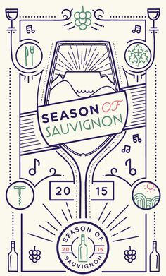 Season of Sauvignon wine festival - Durbanville Wine Valley | Graphic design, branding and poster design - designed by brandtree.co.za