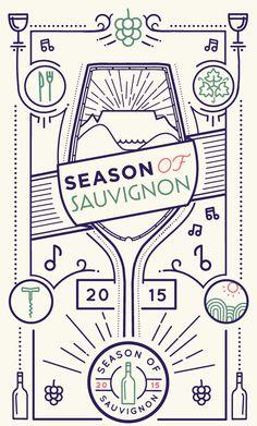 Season of Sauvignon wine festival - Durbanville Wine Valley | Graphic design, branding and poster design - designed by brandtree.co.za
