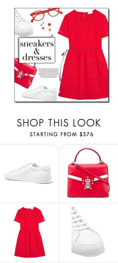 """""""Total Recall"""" by sherieme ❤ liked on Polyvore featuring Common Projects, Dolce&Gabbana, RED Valentino and See Concept"""