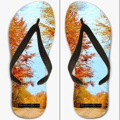 Flip Flops UK sizes 7 / 7.5 / 8 - Through the fall - by PINO