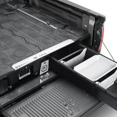 Truck Bed Storage System by DECKED®. Need to organize or separate your stuff for work and play? Look no further than functional and easy to use truck bed storage and cargo organizers by DECKED. From an Authorized Dealer. Truck Bed Storage, Deck Storage, Storage Ideas, Box Storage, Truck Tools, Truck Tool Box, Custom Truck Beds, Custom Trucks, Used Trucks
