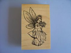 Creative Images Rubber Stamps Cistamps Fairy on Mushroom Stamp   eBay