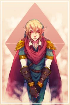 Link. This may be very ignorant of me, but somebody please tell me why Link has that fab af cape.