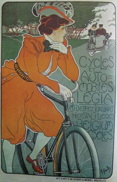 Vintage Bicycle Posters: Legia Cycles et Automobiles