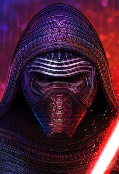 Kylo Ren - Star Wars: The Force Awakens - Sandy & Steve Pell Star Wars Fan Art, Star Wars Sith, Star Wars Kylo Ren, Cuadros Star Wars, Starwars, Arte Robot, Movies And Series, Fanart, Episode Vii