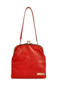 SINGLE CLASP LEATHER BAG
