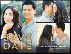 Sparkling Promise - Save the Date Postcards in Silver save the date lettering 0.79ea. | Magnolia Press