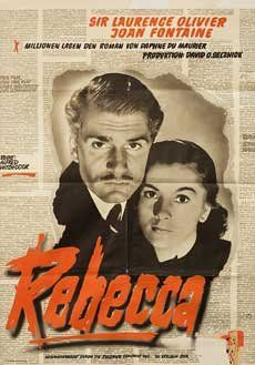 Amazon.com: REBECCA 1960 Original German Movie Poster Alfred Hitchcock Laurence Olivier: Laurence Olivier, Joan Fontaine: Collectibles & Fin...