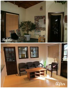 #Beforeafter of a #lobby in this office