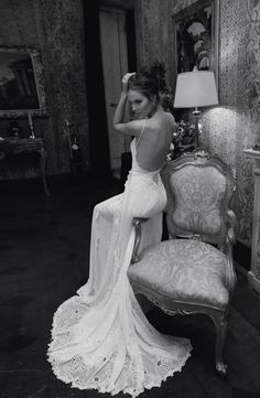 inbal dror wedding dress back details The cat better have money cause this dress is $7000!