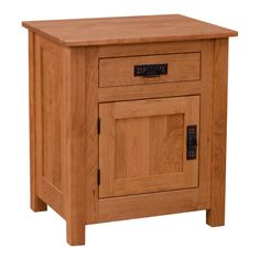 This Amish Mission Cornwall Drawer & Door Nightstand was handcrafted with the utmost diligence and the strictest attention to detail. Constructed out of hand selected solid Cherry by experienced Amish craftsmen, this furniture offers superior durability and an unsurpassed level of quality.   Let's talk about the great features of this Nightstand. The drawer side is constructed with English dovetail and sits on full-extension under mount ball bearings for an exceptionally smooth motion…