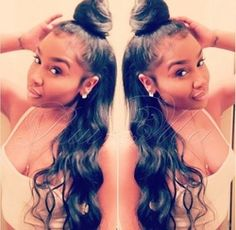 Online Shop High ponytail full lace wigs/silk top full lace wigs long Brazilian remy human hair with baby hair for african american wigs|Aliexpress Mobile