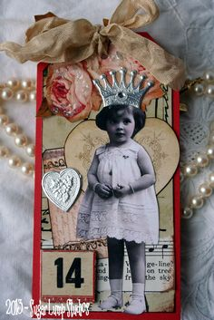 SALE The Heart Fairy Altered HANDMADE Collage Tag. $4.00, via Etsy.