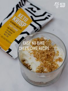 Easy No Bake Cheesecake Recipe Low Carb Desserts, Healthy Dessert Recipes, Low Carb Recipes, Cooking Recipes, Easy No Bake Cheesecake, Baked Cheesecake Recipe, Sweet Recipes, Easy Meals, Yummy Food