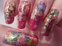 Christmas Xmas Inspired Flower Water Decal Nail Art Design Tutorial On L...