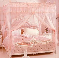 I love pink but a little more white would make this room perfect.