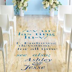 Personalized adhesive runner. I adore this idea.