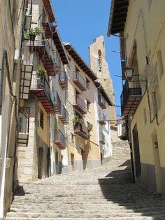 Street in Morella. Castellón. Valencia province. Spain