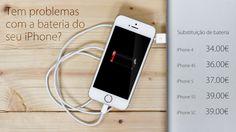A bateria do seu iPhone perde a carga muito rapidamente, não carrega ou não dá mesmo sinal? Temos a solução para si aos melhores preços do mercado!  iPhone 4    …