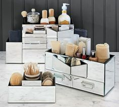 Mirrored Makeup Storage | Pottery Barn, Keep It Organized With This Chic  Storage Set!