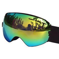 Ski Goggles UV400 Anti-fog Ski Glasses Double Lens