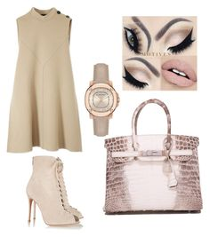 """""""Untitled #56"""" by lillylilit on Polyvore featuring Derek Lam, Gianvito Rossi, Hermès and Burberry"""