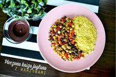 Zdrowy obiad - pieczona kasza jaglana z warzywami