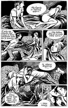 A page from Blankets by Craig Thompson