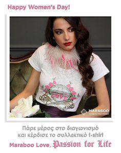Πάρτε μέρος στον διαγωνισμό και κερδίστε το Love,passion for life t-shirt   Maraboo fashion Passion For Life, Happy Woman Day, Ladies Day, Industrial Style, Casual Chic, Boy Or Girl, T Shirts For Women, Inspiration, Outfits