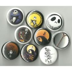 The Nightmare Before Christmas Pinback Buttons
