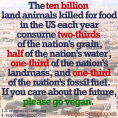 Nothing comes close to sucking up vital resources like animal agriculture. Reducing animal foods is key to survival.