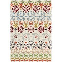 Make any space more contemporary with this New Zealand wool rug. Featuring a floral pattern that will make any space more beautiful, this handmade rug has a high pile for enhanced comfort, and its cotton-canvas backing ensures its durability.