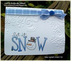 Let it snow, let it snow, let it snow..... by JoBear2 - Cards and Paper Crafts at Splitcoaststampers