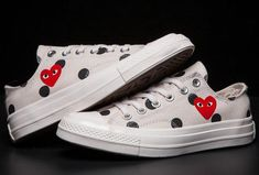 49dae36aee60 Bandana Fever Comme Des Garçons Play Chuck Taylor  70s Canvas Sneakers White.  Custom Vans ShoesCustom ConverseBandana ...