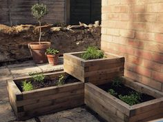 Raised beds ~ perfect for the northwest corner of the back yard.