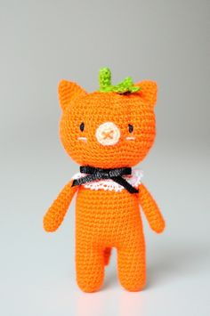 Halloween pumpkin cat amigurumi pattern by yorbashideout