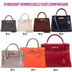 Kelly 101 - PurseBop most common Kelly sizes 28 e5e8fc65b2c7d