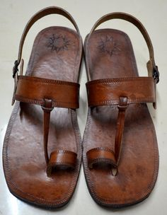 Moroccan Inspired Sling Back Leather Sandals-Handmade Sandals , Indian Leather Sandals, Ladies, Mens, Custom made - ALL SIZES ($55.00) - Svpply