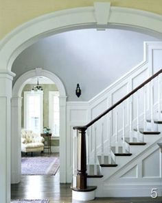 Beautiful Budget Stair Remodel; From Carpet To Wood Treads. Wall MoldingMolding  IdeasPanel MouldingTrim ...
