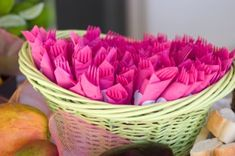 For a great decorative impact, wrap forks and spoons with colored napkins, tie with ribbons,place them all in baskets and arrange on the table.