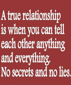 A true relationship is