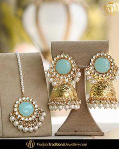 Indian Jewelry Earrings, Indian Jewelry Sets, Silver Jewellery Indian, Jewelry Design Earrings, Golden Jewelry, Ear Jewelry, Jewelery, Antique Jewellery Designs, Fancy Jewellery