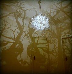 Indoor tree shadow lamp by Hilden & Diaz, http://www.hildendiaz.dk