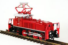 German later called as built in Fits gauge 1 tracks (LGB), remote control by Lego Power Functions. Boy Toys, Toys For Boys, Lego Trains, Lego Stuff, Lego Ideas, Model Trains, Fire Trucks, Legos, Material
