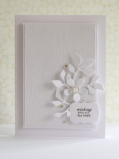 love the white on white and clear embossing
