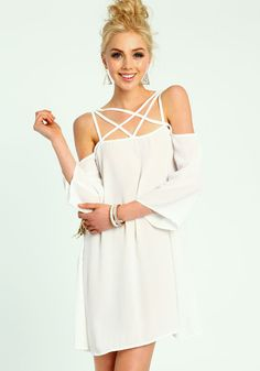 Caged off Shoulders Dress ; Love Culture - dream dress right now