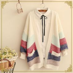 "Mori Girl Knitted Cardigan, $36! Use code ""usagibun"" for 10% off your order! ❤"