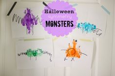 sweet and lovely crafts: Hallowen symmetry blob monsters!